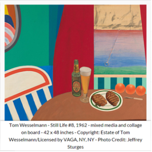 """Una delle opere esposte alla mostra """"Arts & Foods. Rituali dal 1851"""" di Germano Celant (Tom Wesselmann, 1962)"""
